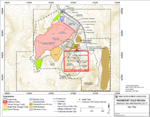 Location map for the proposed Grassy Mountain gold mine and associated infrastructure